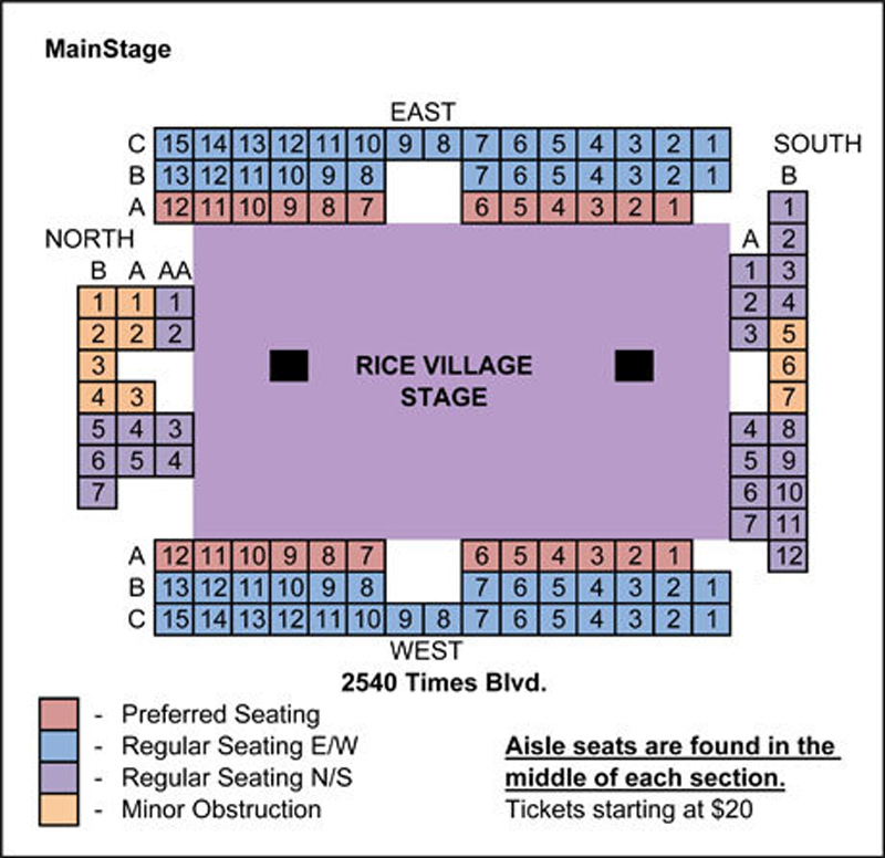 Main Street Theater Seating Chart